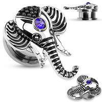 Flesh Tunnel - Steel Ear Plug Stretcher Expander Body Jewellery Piercing Taper