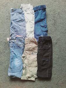 Bundle Of Baby Boy Trousers Jeans Combats Age 9-12 Months Next Jasper Conran