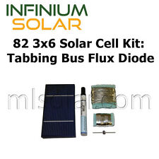 82 3x6 Solar Cell Kit with Tabbing, Bus, Flux, Diode