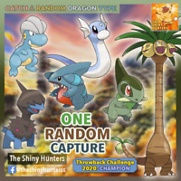 Pokémon GO - Catch A Dragon Type - 1 Random - Gible/ Axew/ Dratini/ Deino/ Bagon