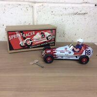 Schylling Sprint Racer Clockwork Tinplate Car. Mint In Box
