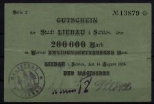 [16224]  - Notgeld LIEBAU (heute: Lubawka), Stadt, 200 Tsd Mk, 14.08.1923, Kelle