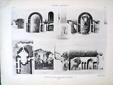 Crypte de l'église St Laurent à Grenoble (Isère) planche début XX°