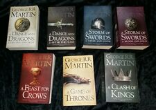 George R R Martin A Song Of Ice And Fire (game Of Thrones) Complete Book Set 7