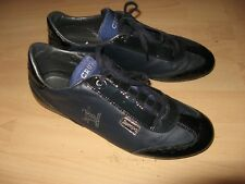 HARDLY WORN MENS NAVY BLUE CRUYFF RECOPA LEATHER TRAINERS SNEAKERS 10 UK 44 EU