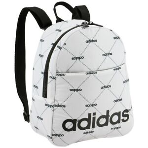 "adidas Core Mini Backpack, Black Monogram White, 9""L x 4½""W x 11""H"