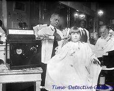Antique Radio in a Barbershop - circa 1920 - Historic Photo Print