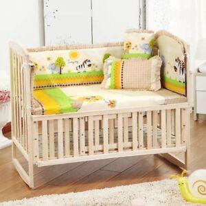 Bedding Set Baby Crib Nursery Newborn Boy Girl New Bumper Pillow Mat Cot Sets