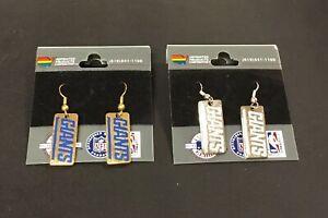 Lot (2) New Vintage New York Giants NFL Pair of Earrings NFC