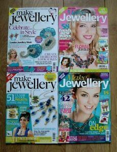 4 x Job Lot Make Jewellery Magazines Issues 34, 35, 37 & 38