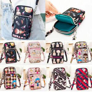 Cross body Bag Mobile Phone Shoulder Bag Purse Wallet Pouch Case Belt Handbag
