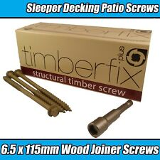 6.5mm x 100mm legno LOCK timberfix professione da esterno Decking legno viti esagonali