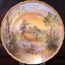 """Royal Doulton Hand Painted 10.25"""" Cabinet Plate, Harlech Castle by Charles Hart"""