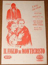 guida pubbl. film IL FIGLIO DI MONTECRISTO Louis Hayward Joan Bennett 1946