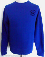 FRED PERRY Sweater Men's Sweatshirt Large Logo C/Nk Regal Blue Sizes: S - XXL