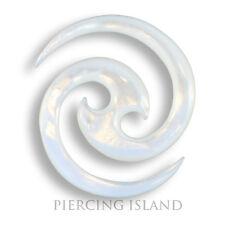 4mm spirale falciformi allungamento spirale expander MADREPERLA Orecchio Ear Piercing 307