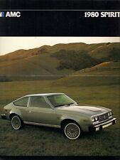 American Motors AMC Spirit 1979-80 Export Markets Foldout Sales Brochure
