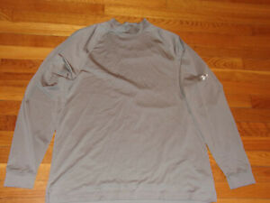 UNDER ARMOUR LONG SLEEVE GRAY JERSEY MENS LARGE EXCELLENT CONDITION