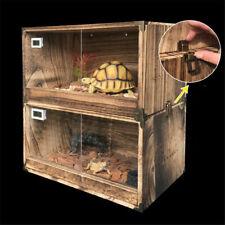 New listing 2 Pack Reptile Enclosure Cage Breeding Boxs W/Temperature & Humidity Display