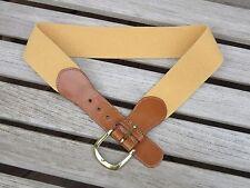 Land's End Gold Leather/Canvas Belt Size 30 - EUC!