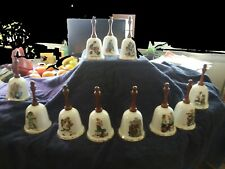 Norman Rockwell Bell Collection Set of 11 in original packaging Vintage - Nice