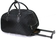 New Designer 46x27x24 Cabin Approved Trolley Hand Luggage Holdall Suitcase Bag