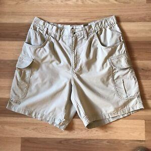 Columbia Sportswear Womens Cargo Shorts Beige Size UK12/14 Hiking Walking