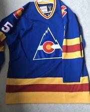 Rob Ramage Colorado Rockies Mitchell & Ness hockey jersey size 52