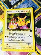 Pokemon Pikachu Ultra Rare MINT Birthday Promo Card 24