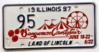 Illinois 1997 Ferris Wheel Old License Plate Garage Special Event County Fair