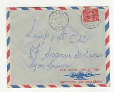 1 timbre F.M sur lettre années 50 tampon Niger Agadez /L286