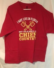 NFL Kansas City Chiefs Country Football Live in Florida Red T-shirt Size Men XXL