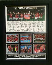 MANCHESTER UNITED FC 2012/2013 EPL CHAMPIONS SIGNED LIMITED EDITION FRAMED