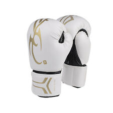 White Women/Men Boxing Gloves MMA Muay Thai Boxe De Luva Full Fingers Sanda Mitt