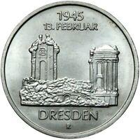 Gedenkmünze DDR - 5 Mark 1985 A - 13. Februar 1945 - Dresden - Stempelglanz UNC