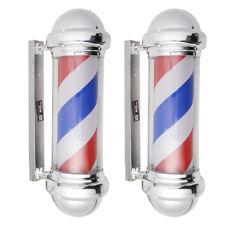 Salon de coiffure Barber tournante éclairante pole fonctions d'éclairage publici