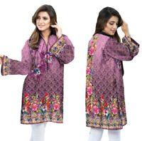 Women Indian Pakistani Kurta Cotton Designer Digital Print Tunic Tops Kurti