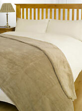 Mink Large Size 140cm x 190cm Super Soft Snug Fleece Blanket / Bed Sofa Throw