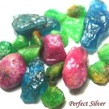 12 ct. 18 P. Natural Rough Emerald Colombia Ruby & Blue Apatite @ FREE SHIP