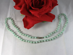 """Gorgeous Green Aventurine Beaded   24""""  Necklace  CAT RESCUE"""