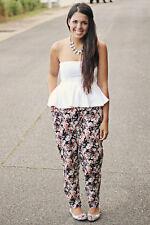 NEW Zara Peplum Strapless Top Blouse in White size S