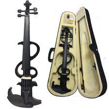 Student Violin 4/4 Electric Violin Fiddle W/Bow +Case+Rosin+Bridge+Cable