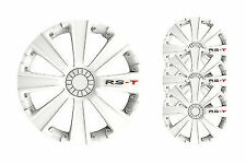 4 Copricerchi auto universali coppa ruota 15 pollici borchie GORECKI RST bianca