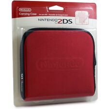 New Sealed Official Nintendo 2DS Console Carrying Travel Case - Red