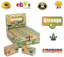Cartine Greengo Rolls Slim Rullo in Canapa Sigarette Box DA 12 Rotoli