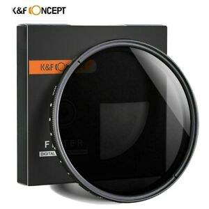 K&F Concept 82mm Variable ND2-400 Filter Neutral Density.