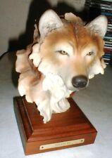 AMAZING Wildlife WOLF Sculpture Statue SOLITUDE Signed by Artist Stephen Herrero