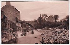 RHAYADER - Bridge & Falls - Wales - c1910s era postcard