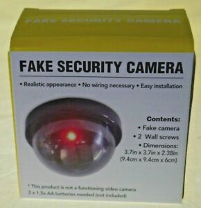 Dummy Camera Fake Security CCTV Dome Camera Flashing Red LED Light In&Outdoor