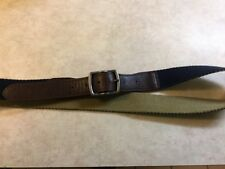 American Eagle Outfitters leather and cotton reversible belt size LG Navy/Khaki
